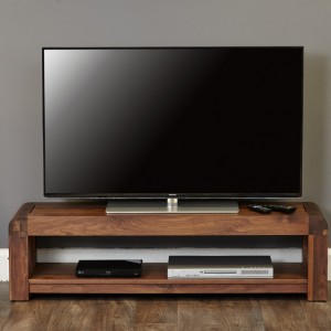 Shiro Walnut Furniture Low TV Cabinet