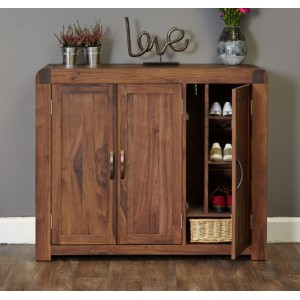 Shiro Walnut Furniture Extra Large Shoe Cupboard