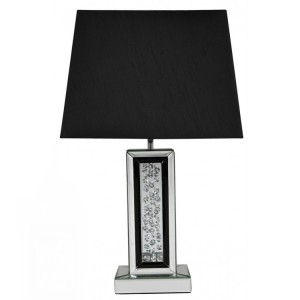 Black Midtown Modern Furniture Diamond Lamp 17 inch Shade