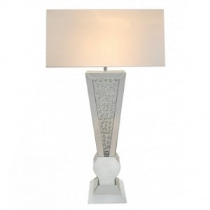White Midtown Living Room Furniture V Shape Lamp 17 inch Shade