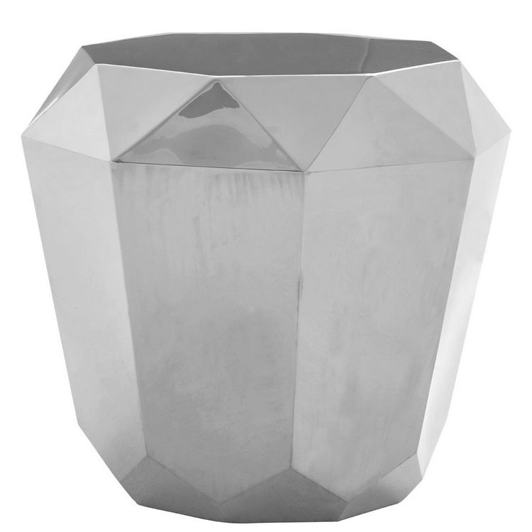 Allure Diamond Cut Stainless Steel End Table