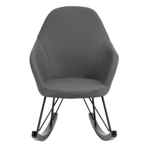 Kolding Dark Grey Faux Leather and Metal Chair