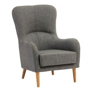 Kolding Grey Fabric and Natural Ash Wood Chair