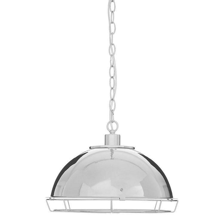New Foundry Industrial Furniture Iron Chrome Pendant Light