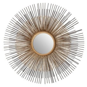 Templar Gold and Bronze Finish Mirrored Glass Round Wall Mirror