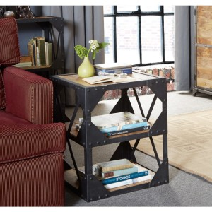 Ascot Industrial Furniture Side Table / Multimedia Cabinet
