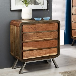 Aspen Reclaimed Iron & Wooden Furniture 4 Drawer Chest