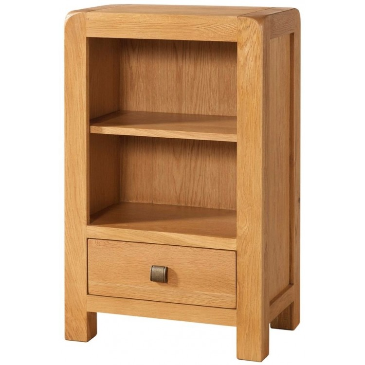 Avon Oak Furniture Low Bookcase with 1 Drawer