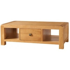 Devonshire Avon Oak Furniture Large Coffee Table With Drawer