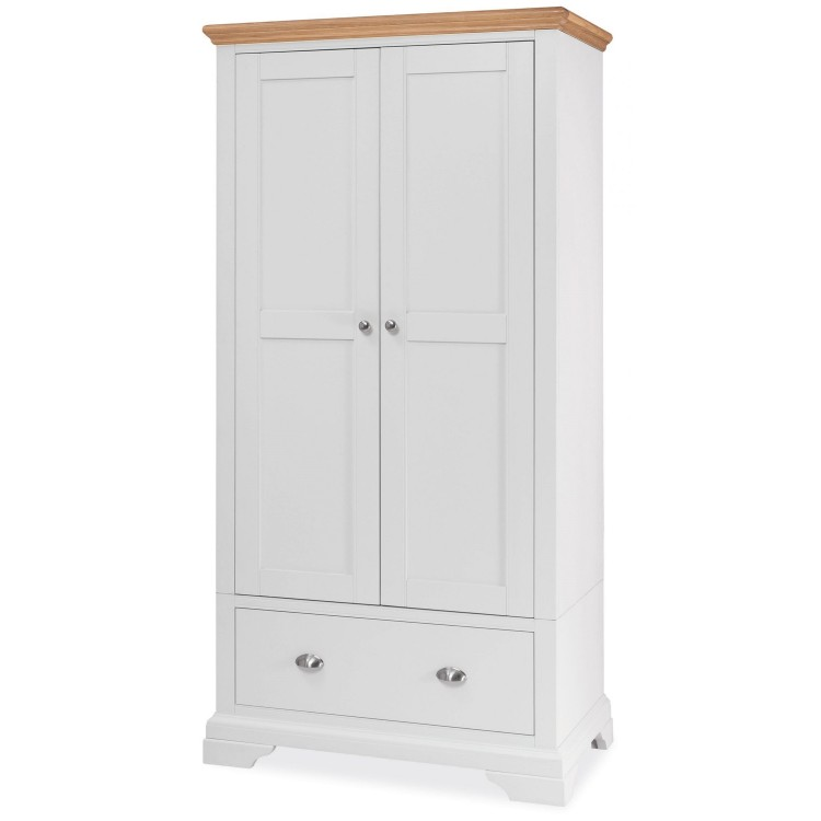 Hampstead Two Tone Painted Furniture Double Wardrobe