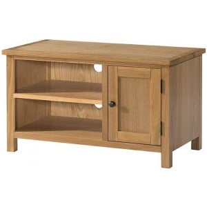 Burford Oak Furniture Small Tv Unit