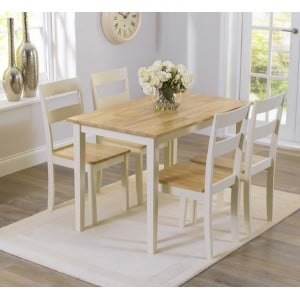 Brampton Cream Painted Dining Table 115cm and 4 Chairs
