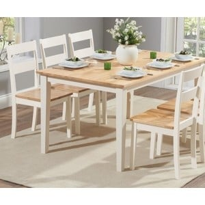Brampton Cream Painted Dining Table 150cm and 4 Chairs