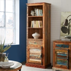 Coastal Reclaimed Wood Furniture Bookcase