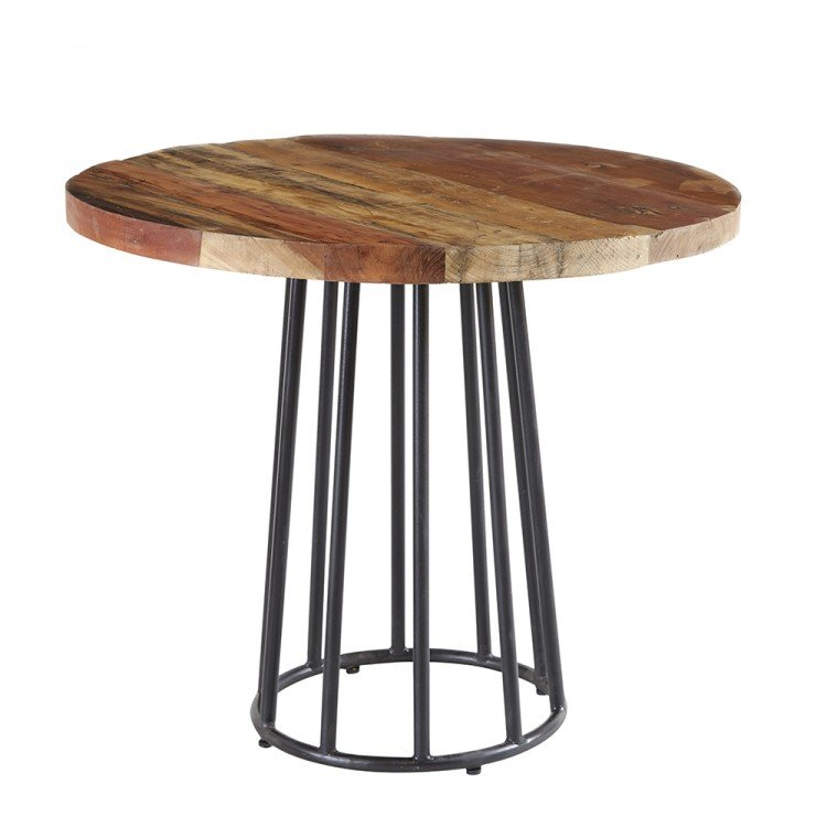 Coastal Reclaimed Wood Furniture Round Dining Table