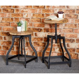 Cosmo Industrial Furniture Breakfast Bar Dining Small Stool