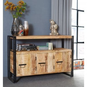 Cosmo Industrial Furniture 3 Doors Sideboard