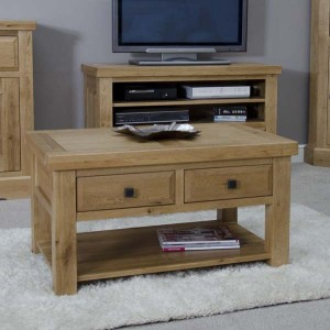 Clearance Deluxe Oak Furniture 3x2 Coffee Table