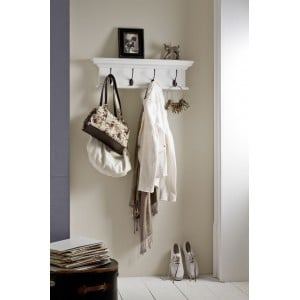Halifax Painted Furniture Four Hook Coat Rack