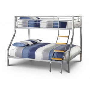 Julian Bowen Furniture Atlas Triple Sleeper Aluminium Bunk Bed