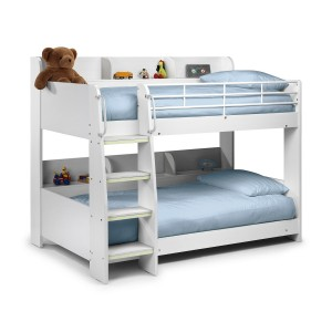 Julian Bowen Furniture Domino Bunk Bed - All White