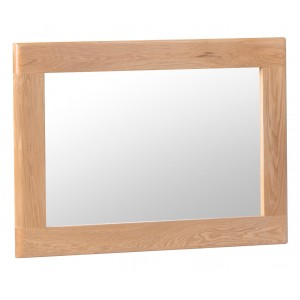 Bergen Oak Furniture Small Wall Mirror