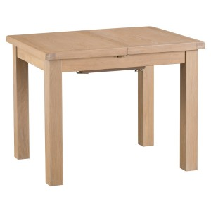 Langham Lime Washed Oak 1m Butterfly Extending Table