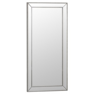 Florence Leaner Silver Wooden and Glass Frame Mirror 80 x 165
