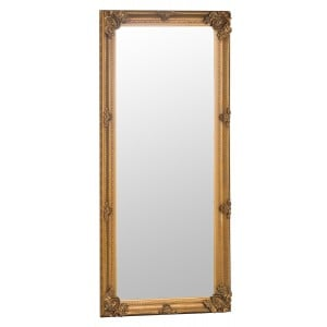 Florence Leaner Gold Wooden Frame Mirror 80 x 175