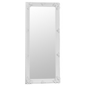 Florence Leaner White Wooden Frame Mirror 80 x 175