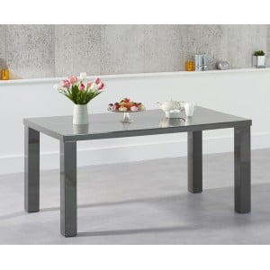 Ava High Gloss Furniture 160cm Dark Grey Dining Table