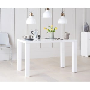 Ava High Gloss Furniture 120cm White Dining Table