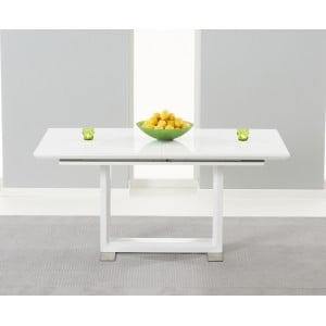Beckley High Gloss Furniture White Ext. Dining Table