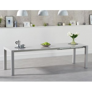 Jamie High Gloss Furniture Light Grey Ext. Dining Table