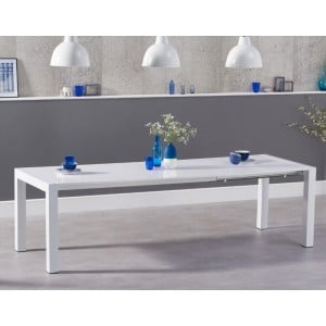 Jamie High Gloss Furniture White Ext. Dining Table