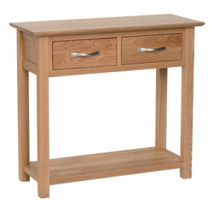 Devonshire New Oak Furniture 2 Drawer Console Table
