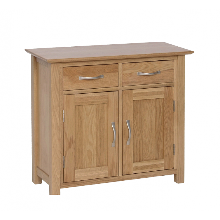 New Oak Furniture 2 Door 2 Drawers Small Sideboard