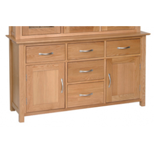 Devonshire New Oak Furniture 4ft 6 Dresser Base