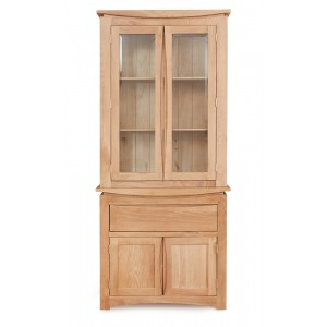 Roscoe Contemporary Oak Furniture Glazed Display Cabinet