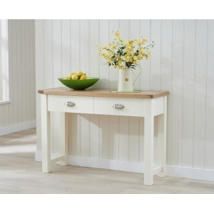 Sandringham Painted Oak & Cream Furniture Console Table