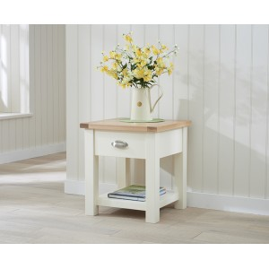 Sandringham Painted Oak & Cream Furniture Lamp Table