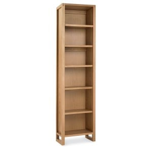 Bentley Designs Studio Oak Furniture Single Bookcase