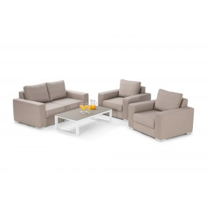Maze Fabric Garden Furniture Zen 2 Seater Sofa Set in Taupe