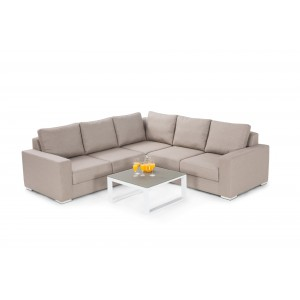 Maze Fabric Garden Furniture Zen Corner Group in Taupe