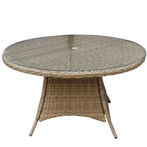 Signature Weave Garden Furniture Darcey Brown 100cm 4 Seater Dining Table