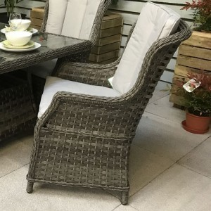 Signature Weave Garden Furniture Victoria Grey High Back Dining Chair