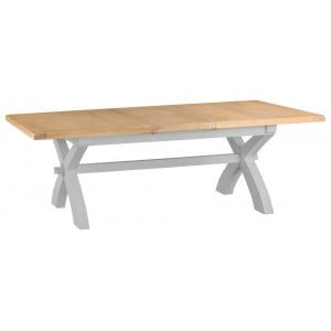 Tenby Grey Painted Furniture 1.8m Cross Extending Table