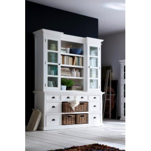 Halifax Painted Furniture Library Hutch Unit With Basket