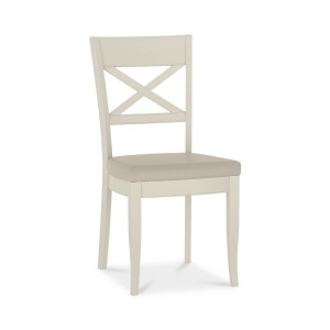 Bentley Designs Chartreuse White Cross Back Chair Pair