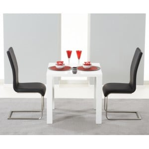 Hereford 80cm High Gloss Furniture Black Dining Set
